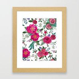 Fall Floral / Autumn flowers Framed Art Print