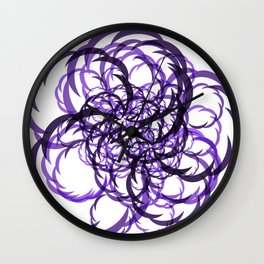 Abstract Magenta Slices Wall Clock