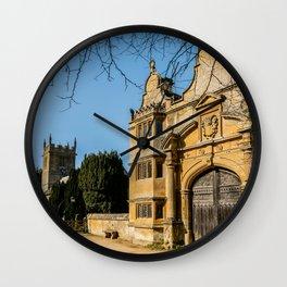 Cotswold Gatehouse & Church. Wall Clock
