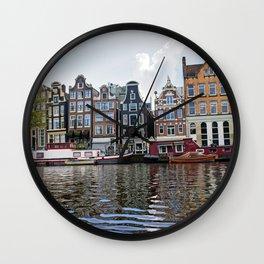 Dancing Houses of Amstedam Wall Clock