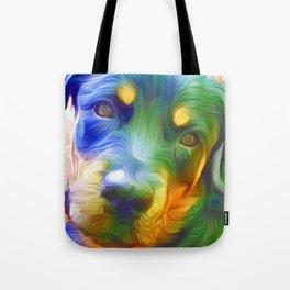 A Rottweiler Rainbow Tote Bag
