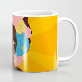 lady with flowers in her hair Coffee Mug