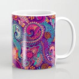 Purple Orange & Teal Floral Paisley Coffee Mug