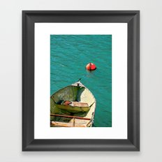 Boat and Blue Waters Framed Art Print