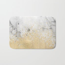 Gold Dust on Marble Bath Mat