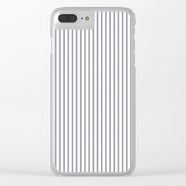 Lilac Gray Stripes Clear iPhone Case