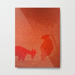 FIERY PET AND ITS MASTER Metal Print