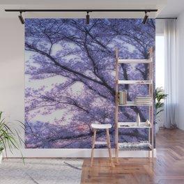 Periwinkle Lavender Flower Tree Wall Mural