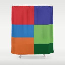 Multi Color squares Shower Curtain