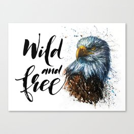 Eagle Wild and Free Canvas Print