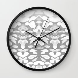 Winter has Come, Silver Romantic Nights Wall Clock