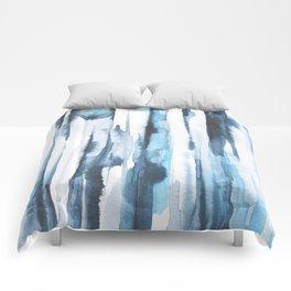 Blue Ice Watercolor Comforters