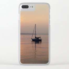 Anchored Off Shore Clear iPhone Case