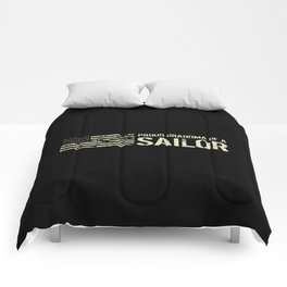 Proud Grandma of a Sailor Comforters