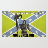 skeletor Area & Throw Rugs featuring Vote Skeletor by Itomi Bhaa