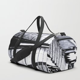 lines and stairs in black and white Duffle Bag