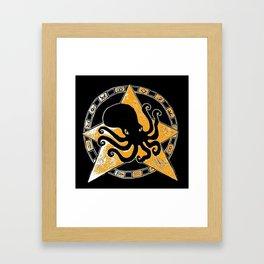 Cephalopod God Framed Art Print