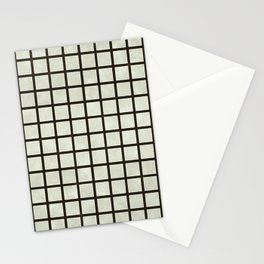 Grid Lines Stationery Cards