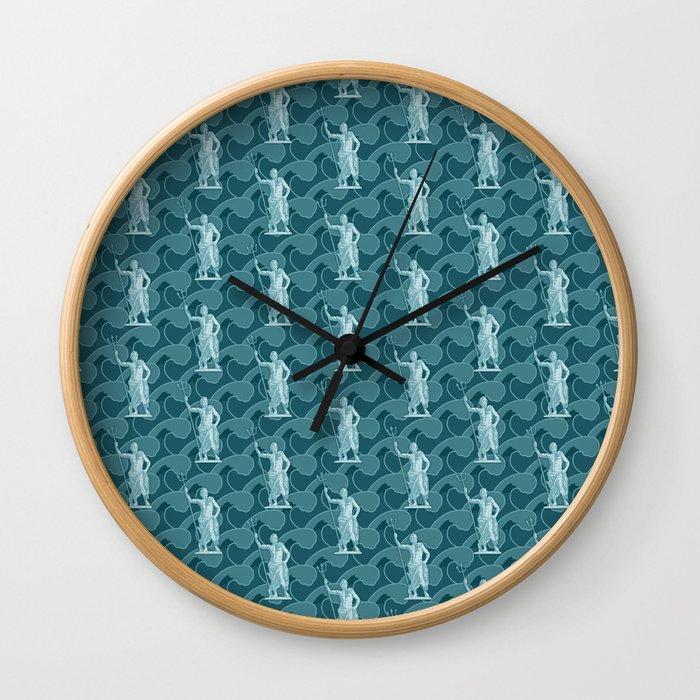 Poseidon OCEAN BREEZE / All hail the god of the sea Wall Clock