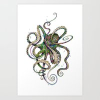 marine Art Prints featuring Octopsychedelia by TAOJB