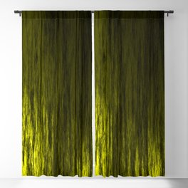 Bright texture of shiny foil of yellow flowing waves on a dark fabric. Blackout Curtain