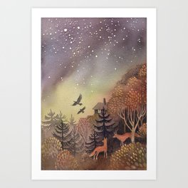 North Sky Art Print