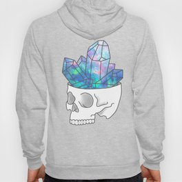 Crystal Skull Magical Witch Grunge Pastel Goth Print Hoody