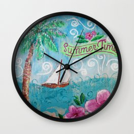 Summertime by Jan Marvin Wall Clock