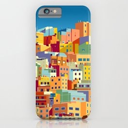 Traditional colorful houses in one of the areas of Las Palmas, Gran Canaria, Canary Islands iPhone Case