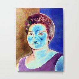 BLUE BROWN Metal Print