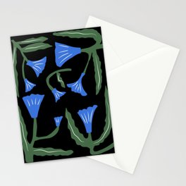 Blue flower illumination Stationery Cards