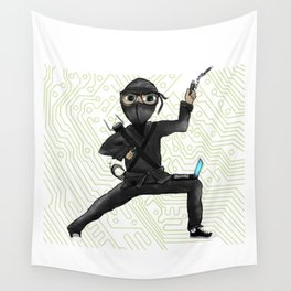 Cyber Ninja Wall Tapestry