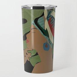 Woman with a Tuban Travel Mug