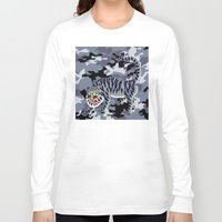 korean Long Sleeve T-shirts featuring Camouflaged Korean Tiger by Hapa Mandu