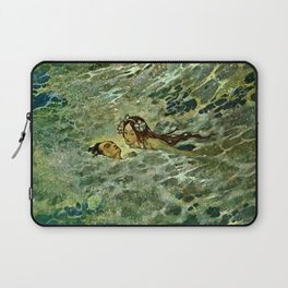 """The Mermaid in the Sea"" by Edmund Dulac Laptop Sleeve"