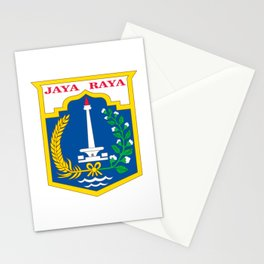 flag of jakarta or Djakarta Stationery Cards