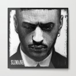 Portrait of Slimane Metal Print