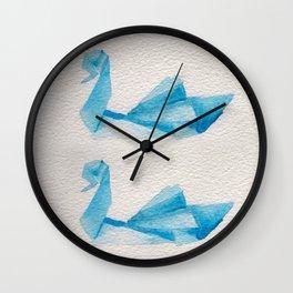 Origami-Swan Wall Clock