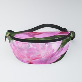 Pink Peony Pair Flower Photography - Bring the Outdoors In Fanny Pack