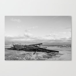 Boardwalk Wreckage - Rockaways after Hurricane Sandy Canvas Print