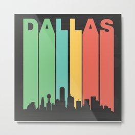 Vintage Dallas Cityscape Metal Print