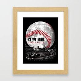 Cleveland Summer Nights Framed Art Print