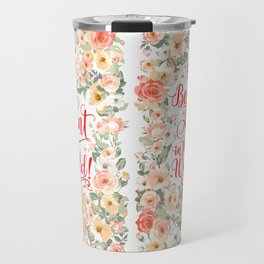 Best Aunt in the World! (Rustic Flowers P1) Travel Mug
