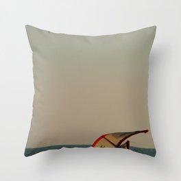 Kitesurfer Down Mandrem Throw Pillow