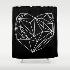 Heart Graphic (Black) Shower Curtain