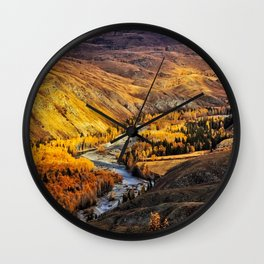 China Mountain Range Wall Clock