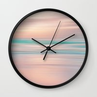 shipping Wall Clocks featuring SUNRISE TONES by Catspaws