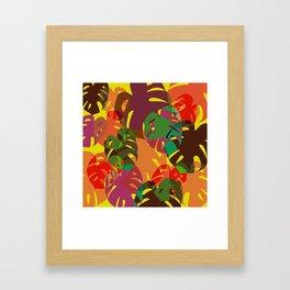 multicolored monstera Framed Art Print