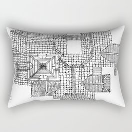 Taiwanese roofscapes 01 Rectangular Pillow