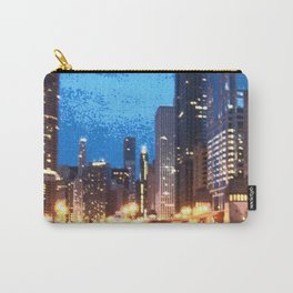 Chicago Night on Lasalle Street Carry-All Pouch
